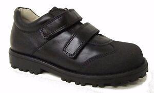 Bo Bell Once Boys Black Leather School Shoe (G Width)