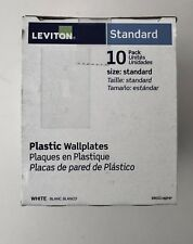 Leviton Standard Plastic White Single Toggle Wall Plate 88001-WMP – 10 Pack New