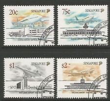 STAMPS-SINGAPORE. 1991. Civil Aviation Set. SG: 656/59. Fine Used CTO