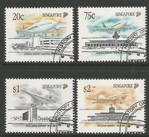 STAMPS-SINGAPORE. 1991. Civil Aviation Set. SG: 656/59. Fine Used CTO