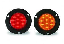 LED 2″ ROUND SEALED FLANGE MOUNT MARKER LIGHT RED