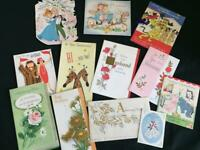 12 wedding anniversary vintage greeting cards pop up scrapbooking