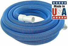 Heavy Duty In-Ground Pool Vacuum Hose 1-1/2-Inch by 45-Feet With Swivel Cuff