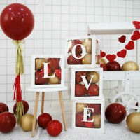 4x Square Transparent Boxes Special Party Decoration Balloon Packing Box 2 Color