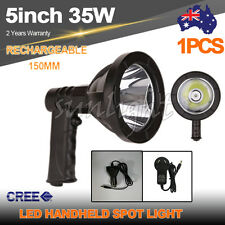 35W 5INCH CREE LED SPOTLIGHT HANDHELD HUNTING RECHARGEABLE SPOT LIGHT FISHING12v
