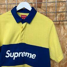 SS16 DS NEW Supreme box logo rugby polo shirt - M MEDIUM bogo yellow tee t-shirt