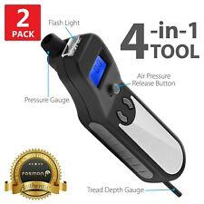 2x Digital Car Tire Pressure Gauge Bike Meter Flashlight Air Release Inflator