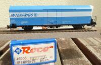 """Roco 46555 H0 2-achsiger Kühlwagen blau, """" INTERFRIGO """" der FS  Epoche 5/6"""