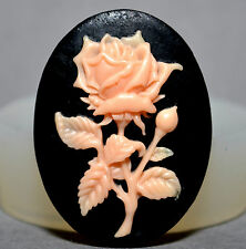 Rose flower cameo  SILICONE MOULD Cupcake polymer clay chocolate resin fimo mold