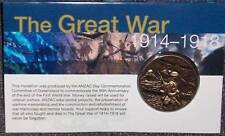 MEDALLION * THE GREAT WAR * AUSTRALIAN ARMY    MINT 1914-19
