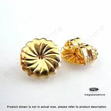 10 pcs Large 9mm 14k Gold Filled Ear Post Earring Backing Earnuts F337GF