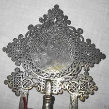 Old Ethiopian Coptic hand held staff procession cross 680g,  13.5""