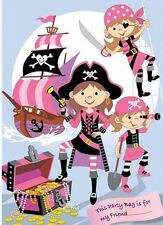 8 Pink girls pirate party themed party bags FREE POSTAGE R57
