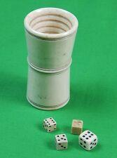 Antique Old Poker Cube Cubes Game Set