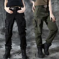 Men Women Combat Straight Pants Cargo Military Casual Outdoor Tactical Trousers