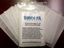 "HARVEST-TEK Rosin Tech Bags QUALITY 90 Micron 10pc 4"" X 6"" SAVE $$ W/ BAY HYDRO"