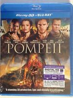 Pompeii (Blu-ray Disc, 2014, 2-Disc Set, (NEW) Carrie-Anne Moss, Emily Browning