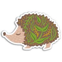 2 x 10cm Cute Hedgehog Vinyl Stickers - Garden Wild Animal Sticker Laptop #17262