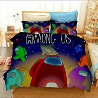 3D Among Us Doona Duvet Cover Quilt Cover Bedding Set Pillow Case Game Queen