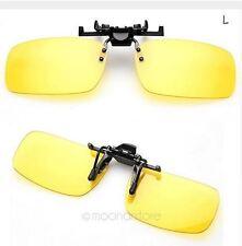 Sur-lunettes Conduite de Nuit Jaune Nocturne Night Vision Glasses Lunettes L