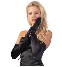 Satin Stretch Handschuhe schwarz