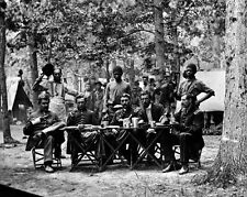 New 8x10 Civil War Photo: Mess of the 93rd New York Volunteers at Bealeton