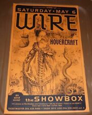 Wire Hovercraft 2000 Seattle Concert Poster 11x17