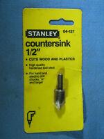 "Vintage STANLEY 04-137 High Speed Steel Countersink 1/2"" Dia. NOS 1986 USA"