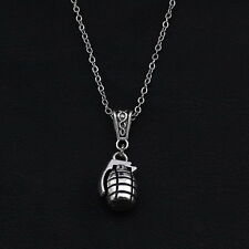 GRENADE PENDANT NECKLACE ALTERNATIVE CHRISTMAS REBEL GIRL GIFT PUNK ROCK BOMB