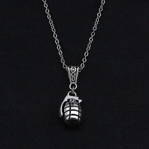 Grenade Pendant Necklace Alternative Halloween Rebel Girl Gift Punk Rock Bomb