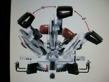 """12"""" Double-Bevel Sliding Compound Miter Saw Laser Guide, Trim,Cut Thicker Wood"""