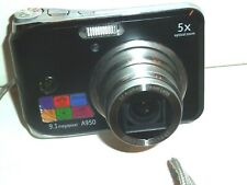 GE Smart Series A950 9.1MP Digital Camera - Black- Tested and works