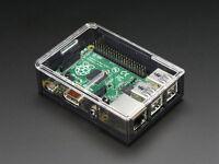Adafruit Raspberry Pi 2 / Pi 3 / B+ Plus Case Smoke Base w/ Clear Top Enclosure