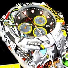 Invicta Bolt Zeus Graffiti Hydroplated Steel Black Chronograph 52mm Watch New