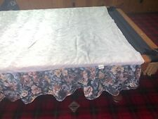 Floral Queen Bed Skirt Roses Multi Color Blue Pink 80�x90�