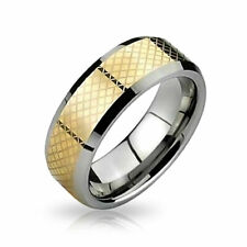 Ring For Men For Women Silver Geometric Simple Couples Titanium Wedding Band