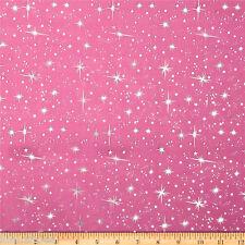 STAR Organza Tessuto-FIOCCO DI NEVE GLITTER TULLE CAPE materiale -140 cm di larghezza Oro Rosa