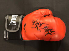 Meldrick Taylor & Tyrell Biggs Dual Signed AUTO Boxing Glove 1984 USA Olympics
