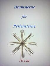 1 Drahtstern doppelt Sterne 16-strahlig Perlensterne 8//10cm Perlen