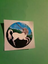 vintage 80's unicorn sticker *restored*(free ship $20 min)