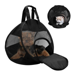 Collapsible Pet Carrier for Small Dog Cat Puppies Comfort Travel Tote Sided Bag
