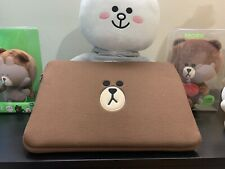 """Line Friends Brown 15"""" Laptop Sleeve / Cover / Case Brown Bear"""