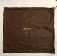 "designer Kate Spade New York NY medium Large Dust bagbrown19.5""X 17"""