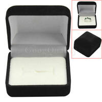 1pc Black Velvet Small Box Case For Ring Earrings Jewelry Display Gift Present