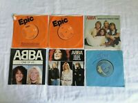 "Abba 6 x 7"" Singles - Take A Chance On Me, One Of Us & More -  Good Condition."