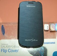 Samsung Galaxy S III mini Protective Flip Cover case, Denim Blue Matte Flip NEW