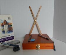 artist's proportional divider , scale divider ( 12 inch American Oak Hardwood