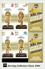 2008 Select NRL Gold Figurine Collectable Trading CARDS Full Set (48)