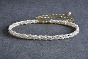 Women Pearl Waist Chain Belt Fashion Adjustable Gold Row Girl Charm Waistband UK