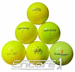 40 Yellow Golf Balls Mixed Brands And Models All PEARL / A Grade